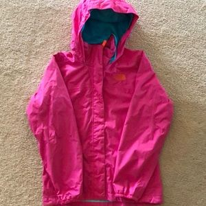 The North Face Girl's Resolve Rain Jacket - Pink M